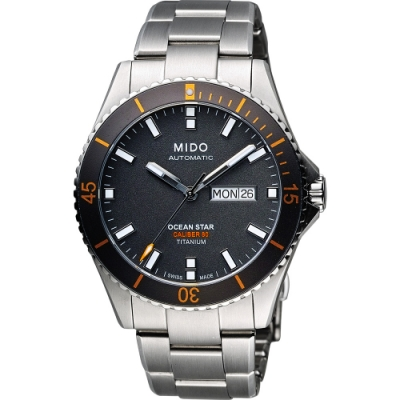 MIDO 美度 Ocean Star Caliber 80 200米鈦金屬潛水機械錶