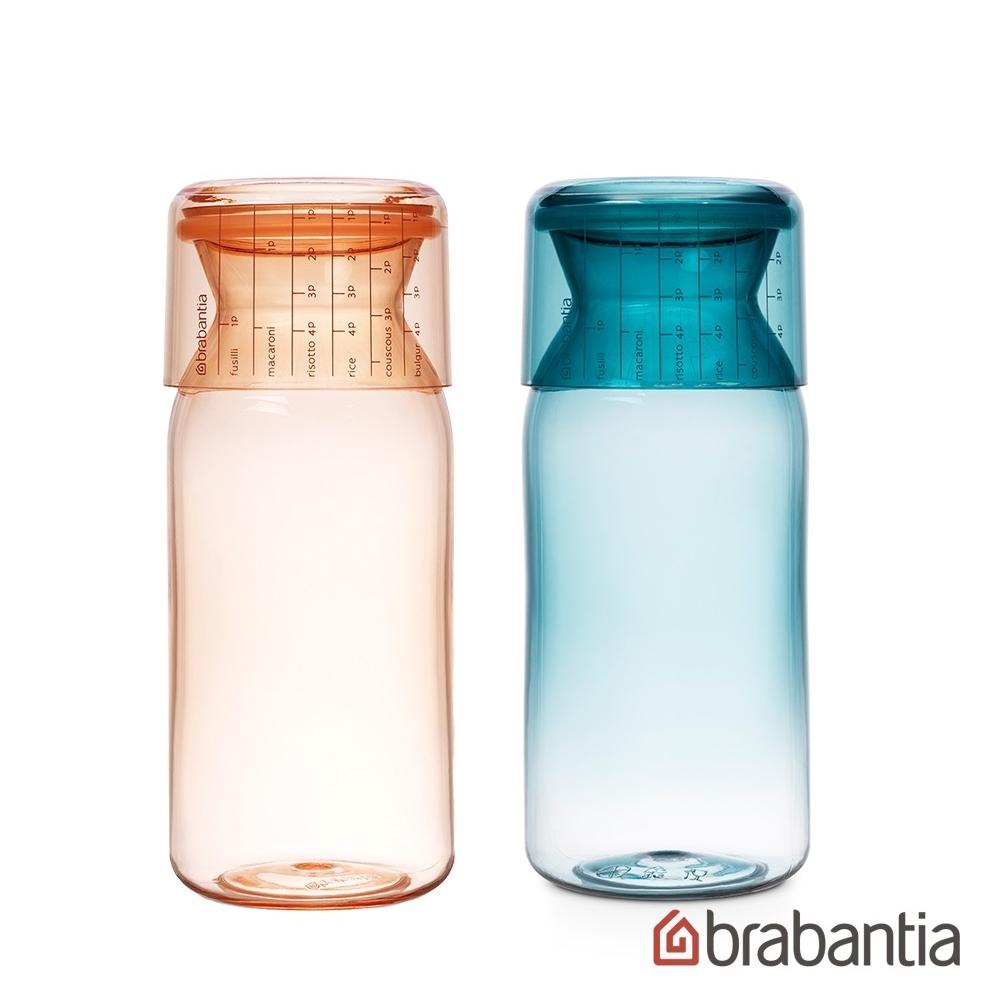 Brabantia 金屬藍食物儲物罐1.4L-薄荷藍+粉紅