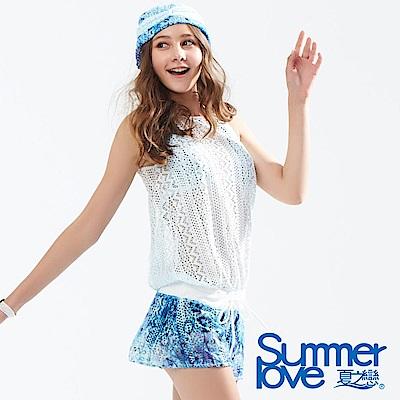 夏之戀SUMMERLOVE 大女連身褲三件式泳衣