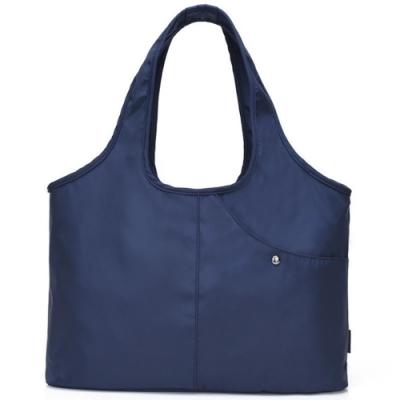 I.Dear-休閒男女大容量牛津布斜紋可水洗百搭購物肩背包(BG76藍色)