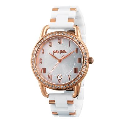 Folli Follie 閃耀晶鑽時尚日期腕錶(WF17B016BDW-XX)