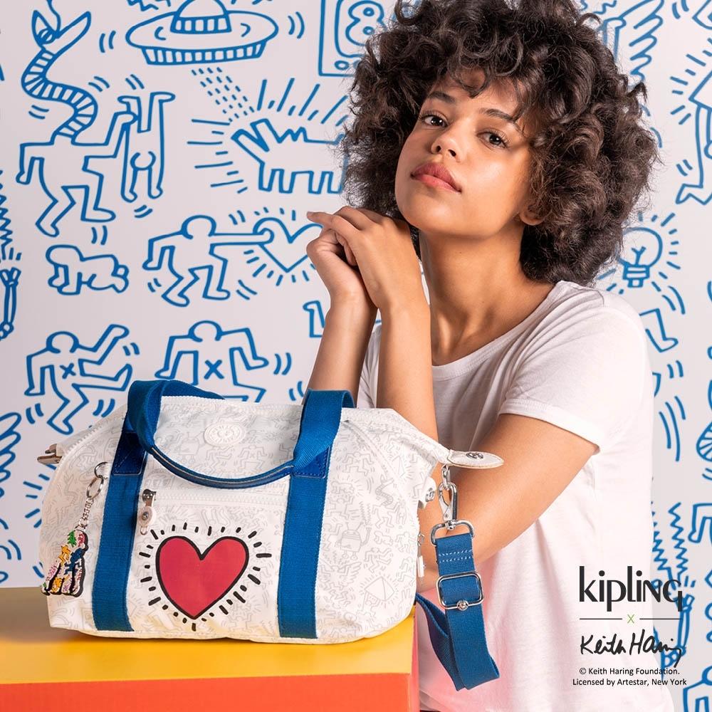 Kipling x Keith Haring 限量聯名系列街頭塗鴉手提側背包-ART MINI