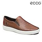 ECCO SOFT 7 MEN'S 經典輕巧休閒懶人鞋-棕