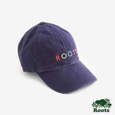 Roots配件- 彩色刺繡棒球帽-藍色