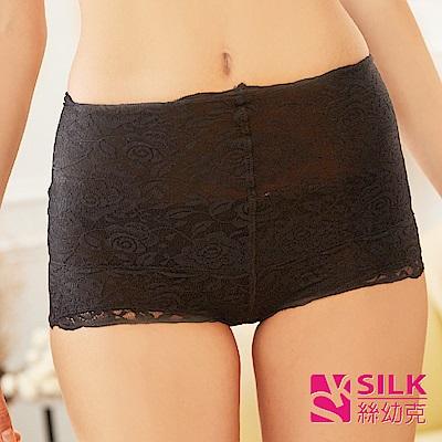 【SILK絲幼克】100%純蠶絲蕾絲花紋提臀收腹雕塑女內褲