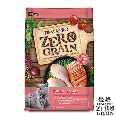 TOMA-PRO 優格 天然零穀食譜 全齡貓 敏感配方(鮭魚)14磅