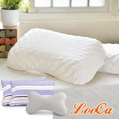 (買二送三)LooCa 波型按摩顆粒乳膠枕2入