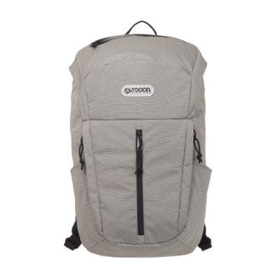 【OUTDOOR】風格前線-15.6吋筆電後背包-淺灰色 OD101109GY