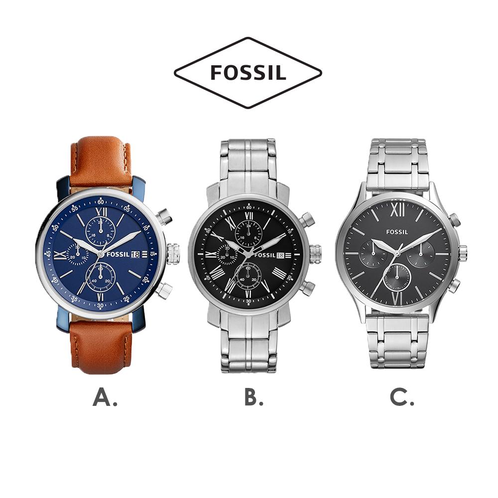 [時時樂]FOSSIL  品牌熱銷多功能男錶 -三款任選