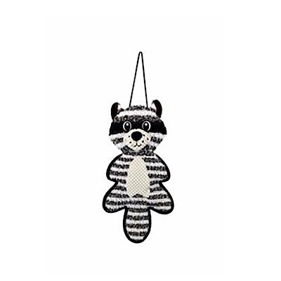掛門抓毯浣熊娃娃 貓抓板