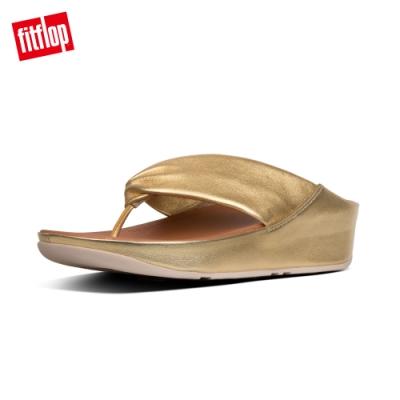 FitFlop TWISS TOE-THONGS 夾腳涼鞋 黃金色