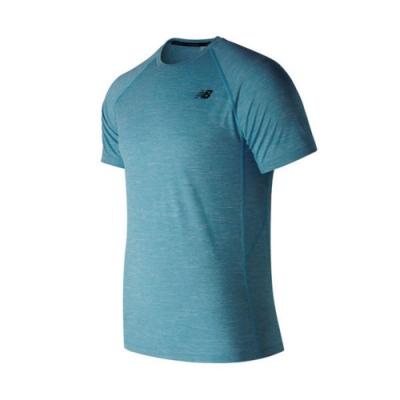New Balance NB DRY 短袖上衣 AMT81095CAD 男性 淺藍