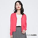 獨身貴族 優雅好感排釦V領針織外套(2色)