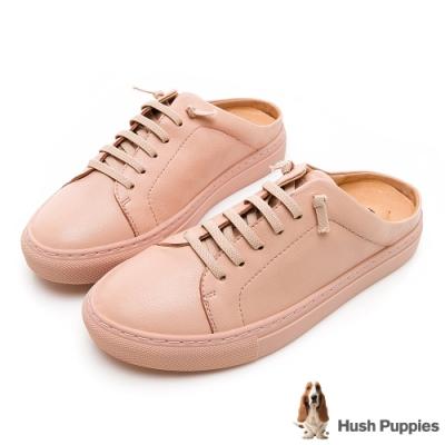Hush Puppies Greenwich 女穆勒休閒鞋-淡粉紅