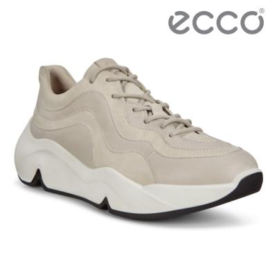 ECCO CHUNKY SNEAKER W 潮趣簡約輕量單色休閒運動鞋 女鞋 砂礫色