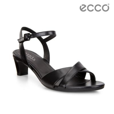 ECCO SHAPE SLEEK SANDAL 45 春夏時尚高跟露趾涼鞋 女鞋-黑色