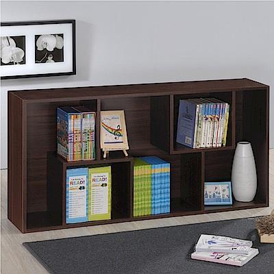 《HOPMA》DIY巧收摩登現代書櫃/收納櫃-寬60 x深24 x高120cm