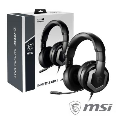 MSI IMMERSE GH61 GAMING HEADSET 電競耳機