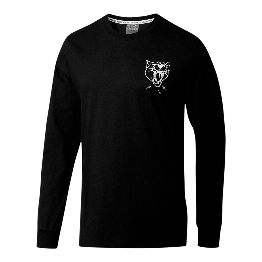 PUMA-男性籃球系列DON'T FLINCH PHOTO長薄T恤-黑色-歐規