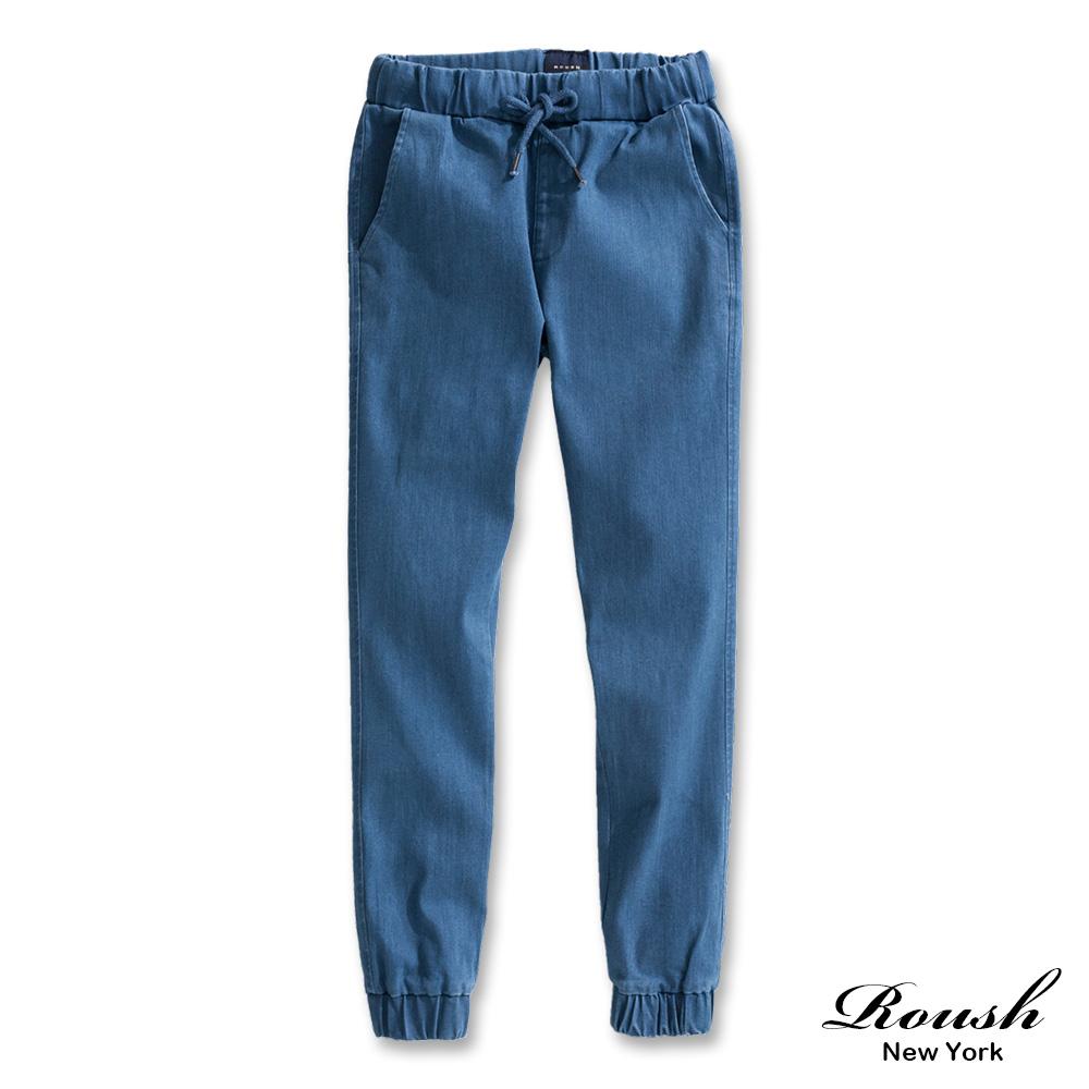 Roush 女生水洗牛仔束口褲(2色)