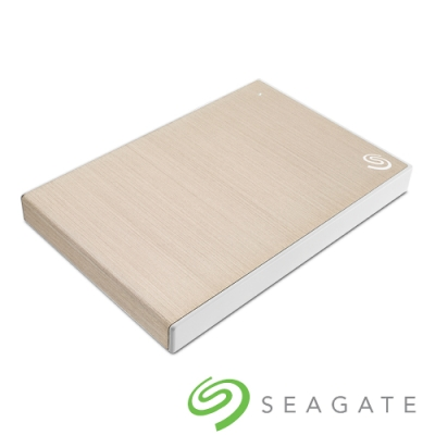 Seagate Backup Plus Slim 1TB 2.5吋 外接硬碟-香檳金