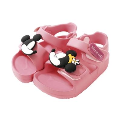 魔法Baby女童鞋 台灣製迪士尼米妮授權正版極輕量涼鞋sd3044