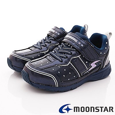 日本月星頂級競速童鞋 輕量防滑系列 NI095深藍(中大童段)