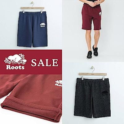 [時時樂限定]男裝Roots 經典棉質休閒短褲(三色任選)