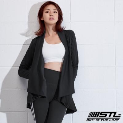 STL Metro Cardigan 韓國運動開襟長版罩衫外套 黑