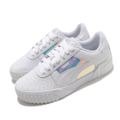Puma 休閒鞋 Cali Glow Wns 運動 女鞋 海外限定 基本款 簡約 質感 球鞋 穿搭 白 銀 37256301