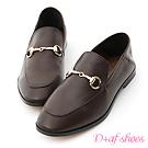 D+AF 上質品味.馬銜釦後踩式二穿紳士便鞋*咖