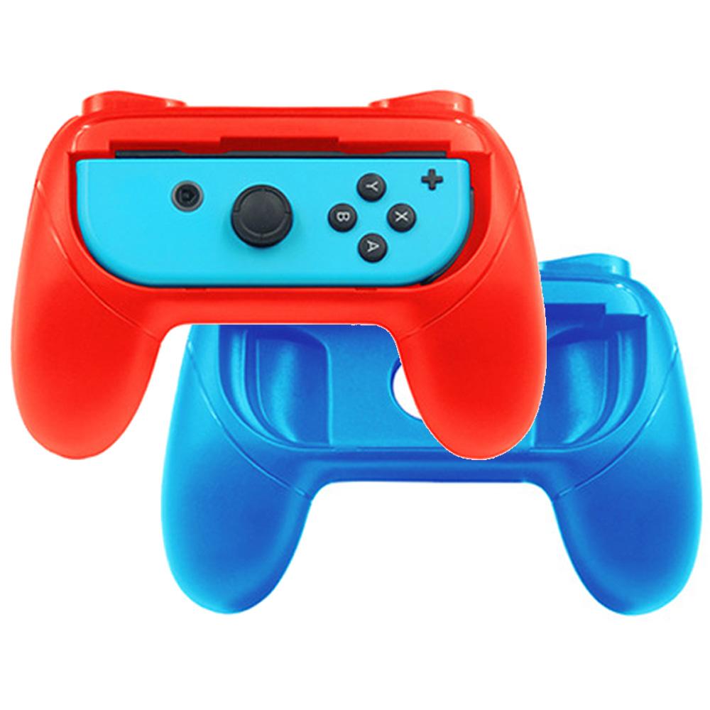 Nintendo任天堂Switch專用 Joy-Con控制器手把握套 (紅/藍)