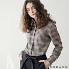 GIORDANO 女裝法蘭絨溫暖磨毛長袖襯衫-23 淺棕色格紋