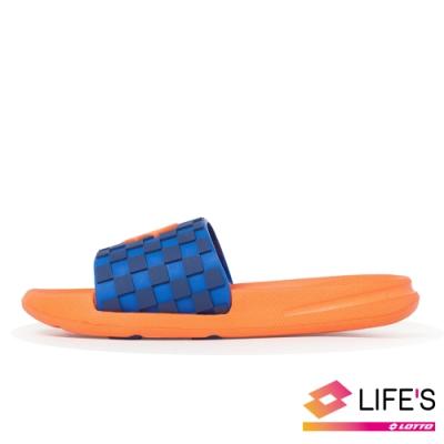 LOTTO 義大利 童 Summer Play 兒童輕量拖鞋 (橘)