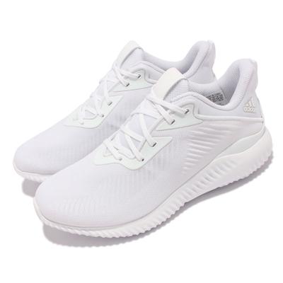 adidas 慢跑鞋 Alphabounce EK 運動 男女鞋 愛迪達 輕量 透氣 Bounce避震 情侶款 白 GY5401
