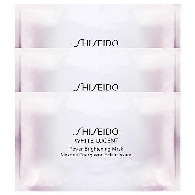 SHISEIDO資生堂 美透白淨電力面膜單片(27ml)x3