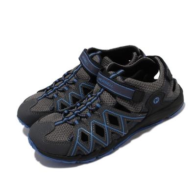 Merrell 戶外鞋 Hydro Quench 童鞋 女鞋 緩震 耐磨 赤足 高抓地力 中大童 灰 藍 MK263195