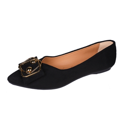 KEITH-WILL時尚鞋館 時尚OL通平底鞋-黑色