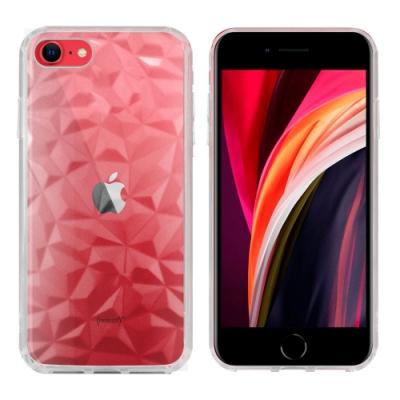 Metal-Slim Apple iPhone SE(第二代) 2020 3D鑽石透明TPU保護殼