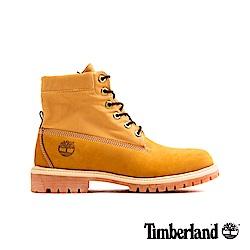 Timberland 男款小麥色磨砂革迷彩圖案反摺靴 A21B1