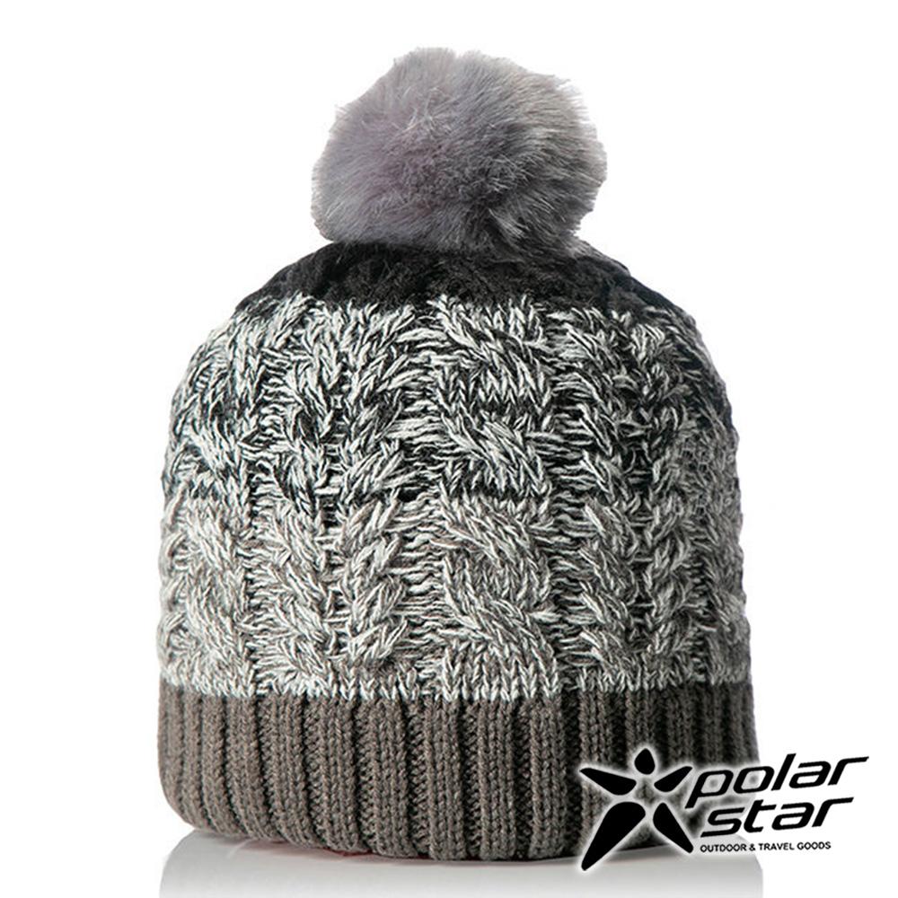 【PolarStar】女漸層編織保暖帽『灰』P18604