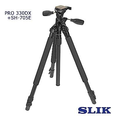 日本 SLIK Pro 330 DX 附 SH-705E 三向雲台
