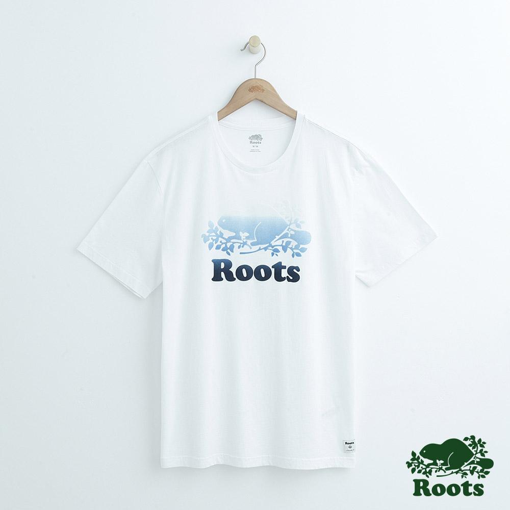 男裝Roots 庫柏漸層短袖T恤-白