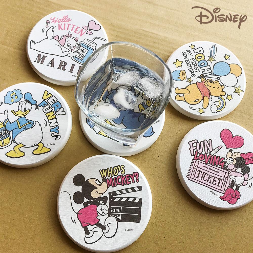 【收納皇后】迪士尼授權 扭屁屁系列 超吸水珪藻土吸水杯墊