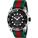 GUCCI 尼龍帶經典200米潛水時尚手錶(136209)
