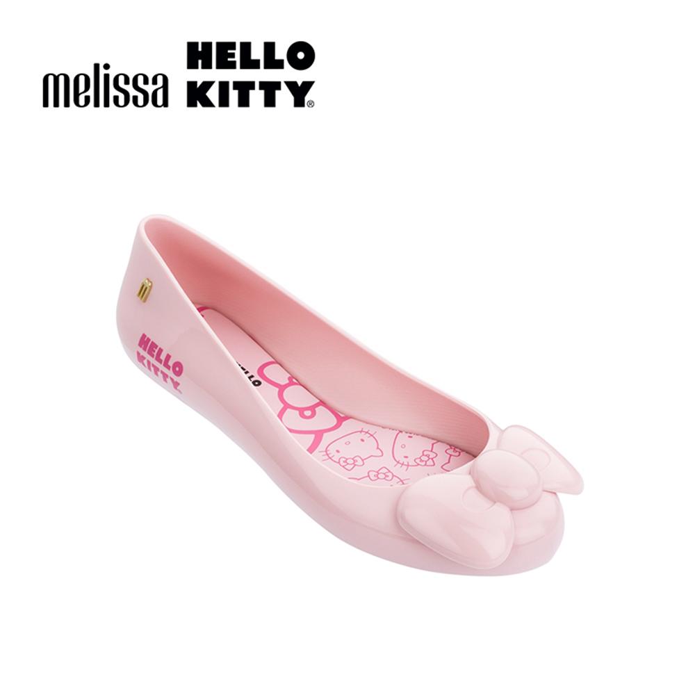 Melissa X HELLO KITTY 娃娃鞋-粉紅蝴蝶結