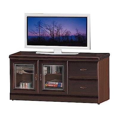 綠活居 艾曼珊4尺實木電視櫃/視聽櫃(二色可選)-120x45x60.5cm-免組
