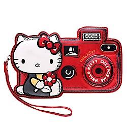 GARMMA Hello Kitty iPhone X/XS 皮革造型保護套 旅行相機