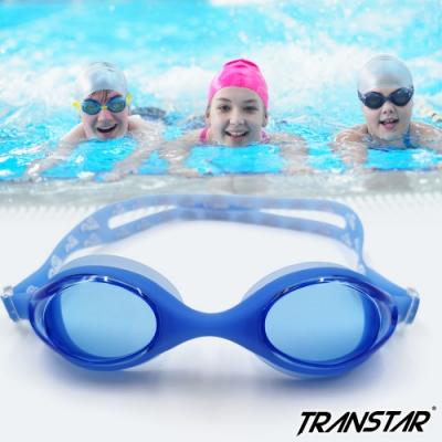 TRANSTAR 兒童泳鏡 一體成型純矽膠抗UV防霧-2750