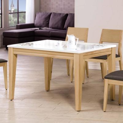 H&D 可莉雅4尺原木石面餐桌